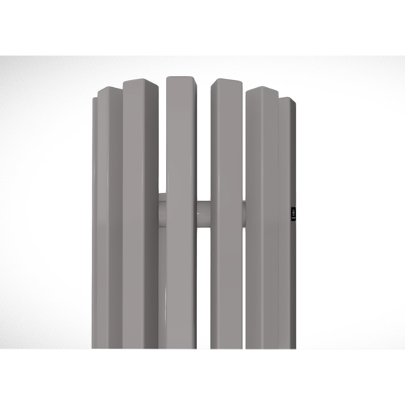 TERMA Triga ANC dizajnový radiátor RAL 7036 - detail