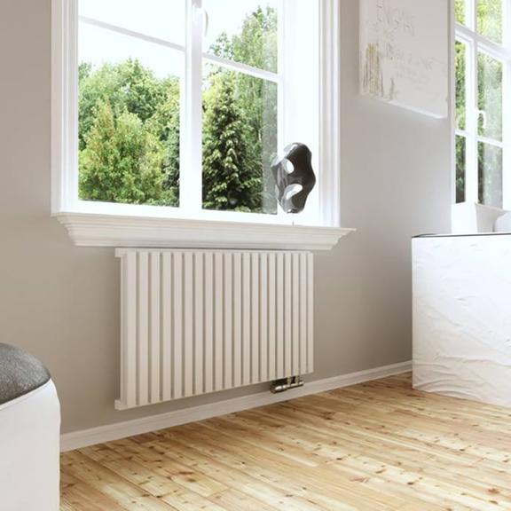TERMA Nemo dizajnový radiátor pod okno RAL 9016 inšpirácie