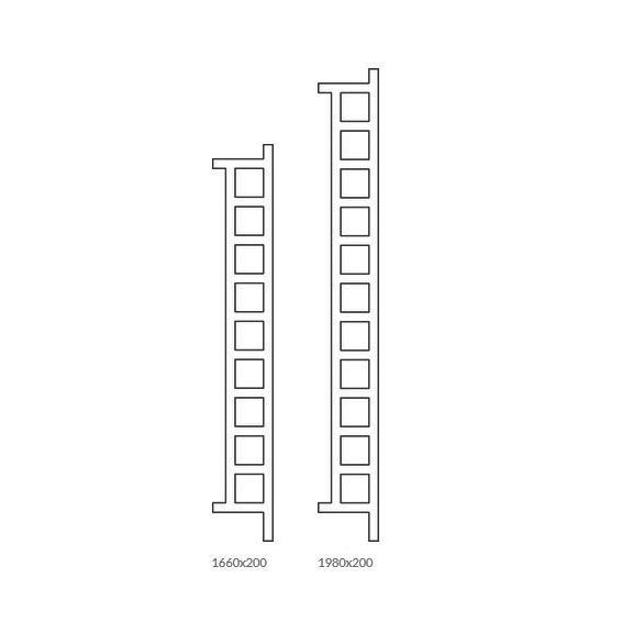 TERMA Easy DW vertikálny radiátor 2 Veľkosti