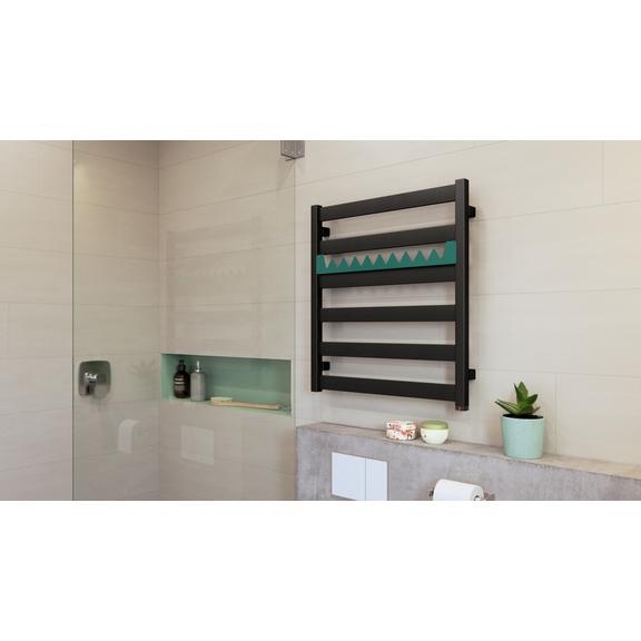 TERMA Vivo kúpeľňový radiátor 670x600 farba Metallic Black+RAL6033