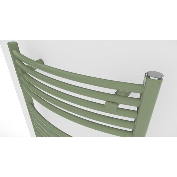 TERMA Domi kúpeľňový radiátor RAL6021 - detail