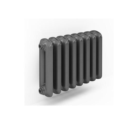 TERMA Plain retro radiátor 460x688 farba Flat Black