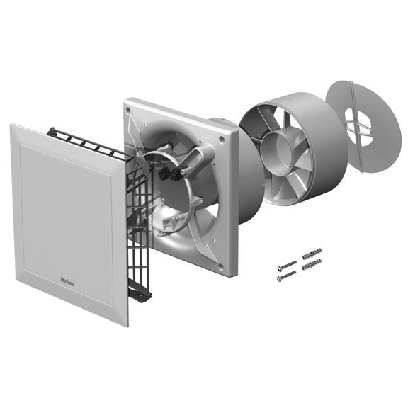 Helios MiniVent M1/150 dvojotáčkový štandardný ventilátor s EC motorom - súčiastky ventilátora
