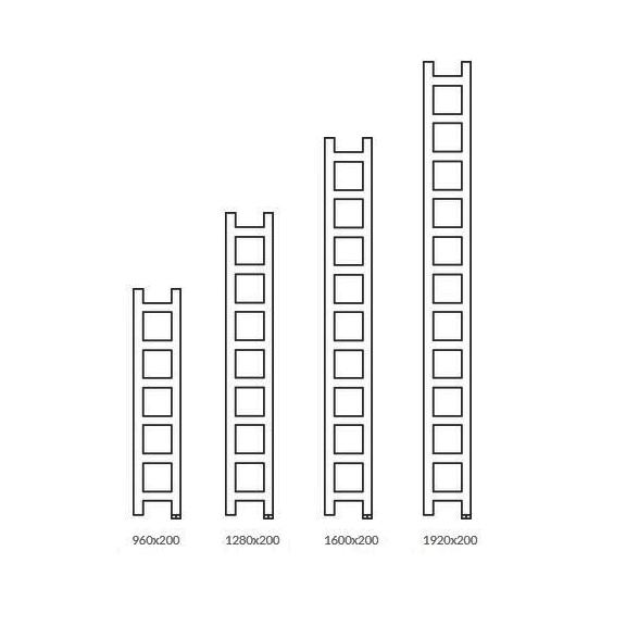 TERMA Easy One vertikálny radiátor Dostupné veľkosti