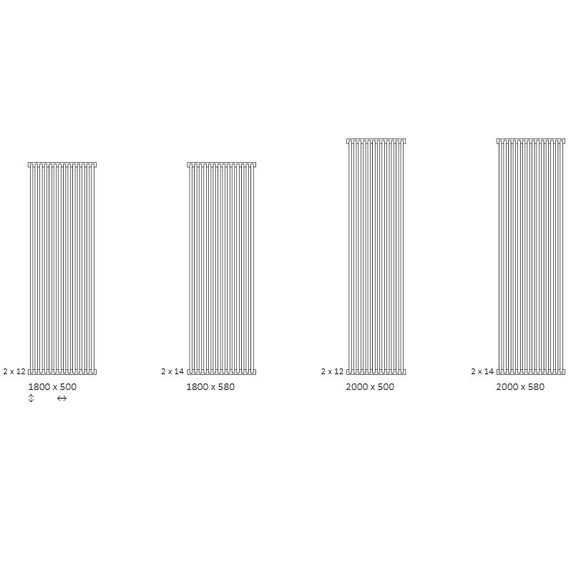 TERMA Delfin dizajnový radiátor  dostupné veľkosti vertikálne
