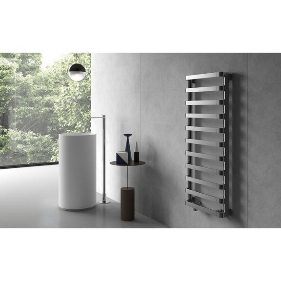 IRSAP Step B kúpeľňový radiátor 1240x500 farba Chróm