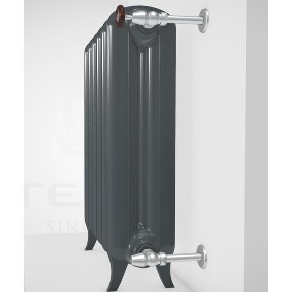 TERMA Plain retro radiátor farba Flat Black stojaci zprofilu