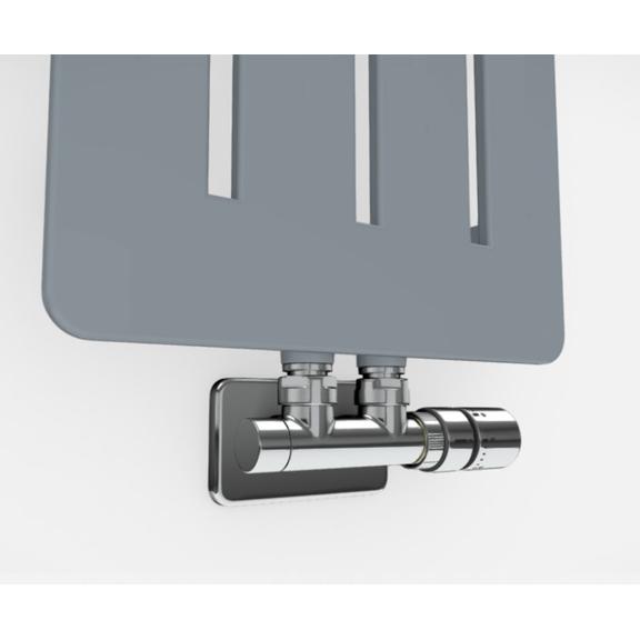 TERMA Aero V dizajnový radiátor - rôzne farebné prevedenia RAL7001 detail