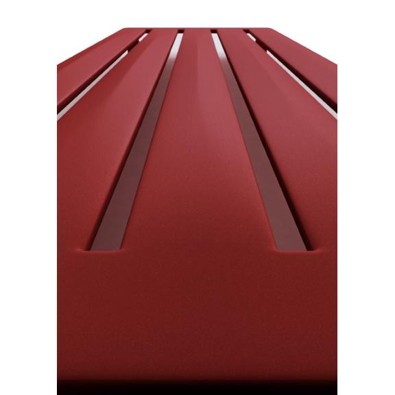 TERMA Aero V dizajnový radiátor 1500x410 farba Metallic Red detail