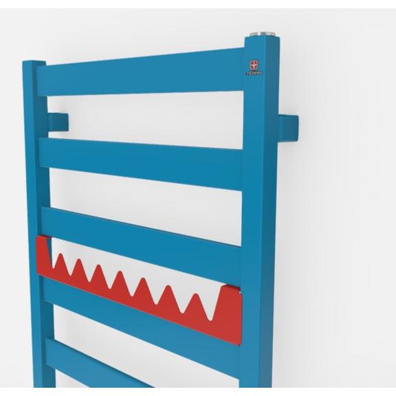 TERMA Vivo kúpeľňový radiátor farebné prevedenia RAL5012 happy shark