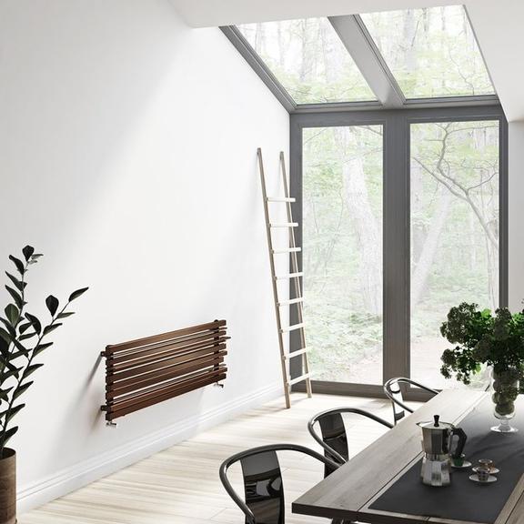 TERMA Sherwood H radiátor pod okno - lesný motív - moderný dizajn