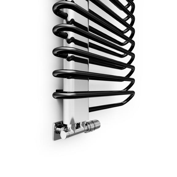 TERMA Michelle dizajnový radiátor 1620x500 chróm a Soft 9005 detail