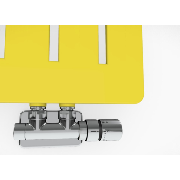 TERMA Aero V dizajnový radiátor - rôzne farebné prevedenia RAL1016 detail