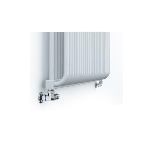 TERMA Delfin dizajnový radiátor pod okno 545x1050 farba Soft White