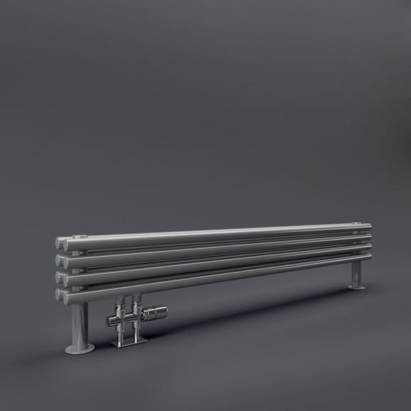TERMA Tune HSD dizajnový radiátor pod okno 390x1400 RAL9006