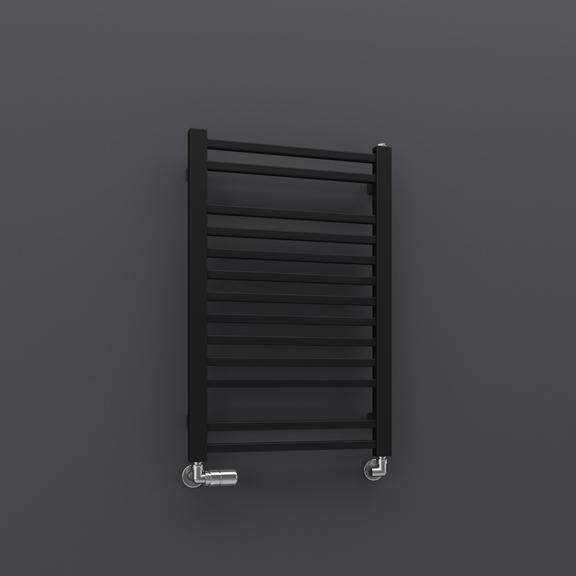 TERMA Bone kúpeľňový radiátor 760x500 - Ral 9005