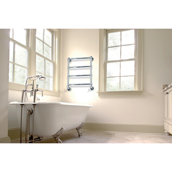 IRSAP Minuette chrómový kúpeľňový radiátor 596x540 farba Chróm