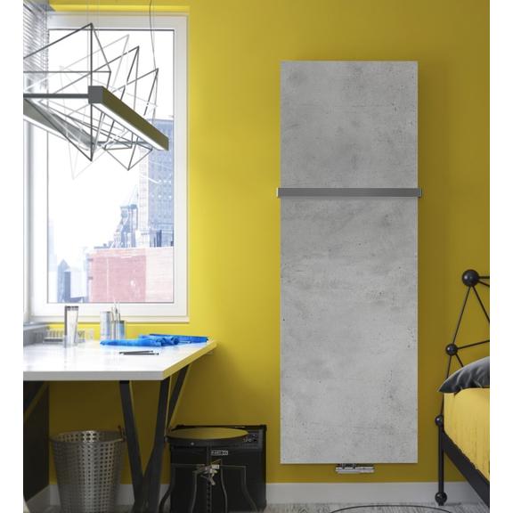 TERMA Case Slim dizajnový vertikálny radiátor - Beton
