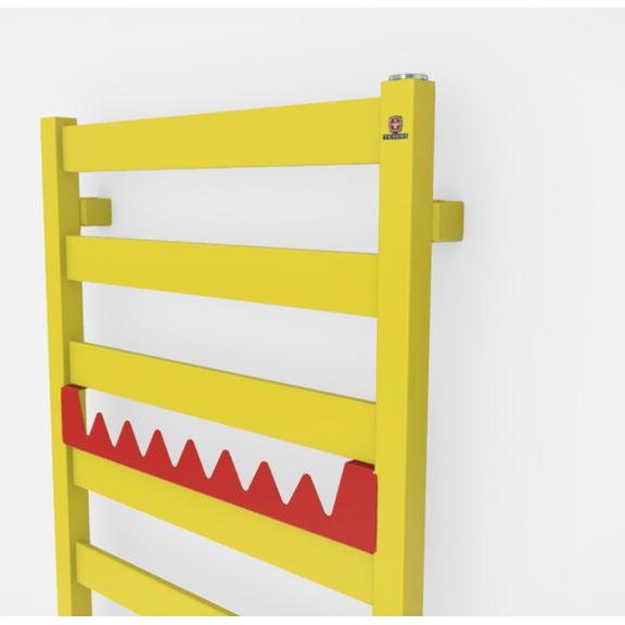TERMA Vivo kúpeľňový radiátor farebné prevedenia RAL1016 happy shark
