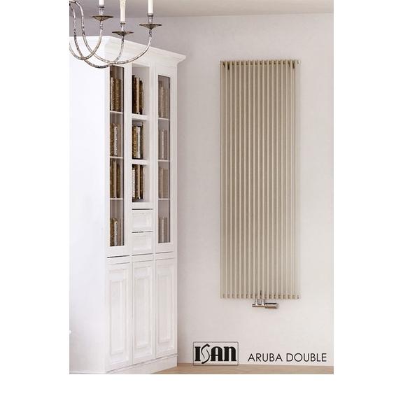 ISAN Aruba Double vertikálny radiátor - RAL 9001