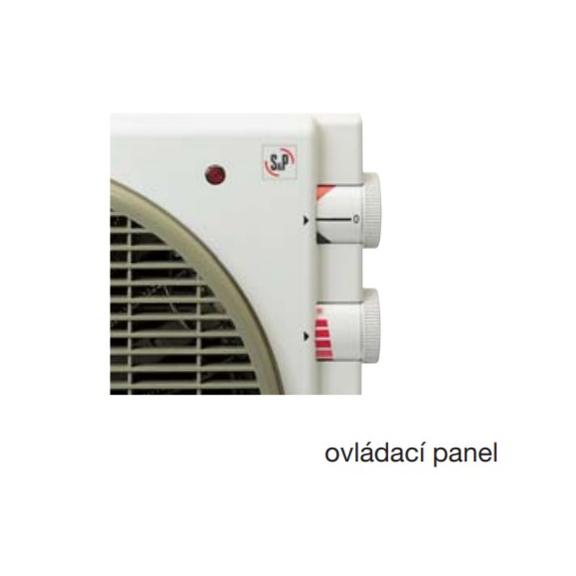 Soler & Palau Meteor EC  axiálny stolný ventilátor - ovládací panel
