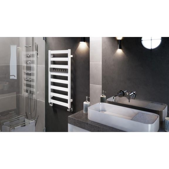 TERMA Vivo kúpeľňový radiátor 915x500 RAL9016 moderná kúpeľňa