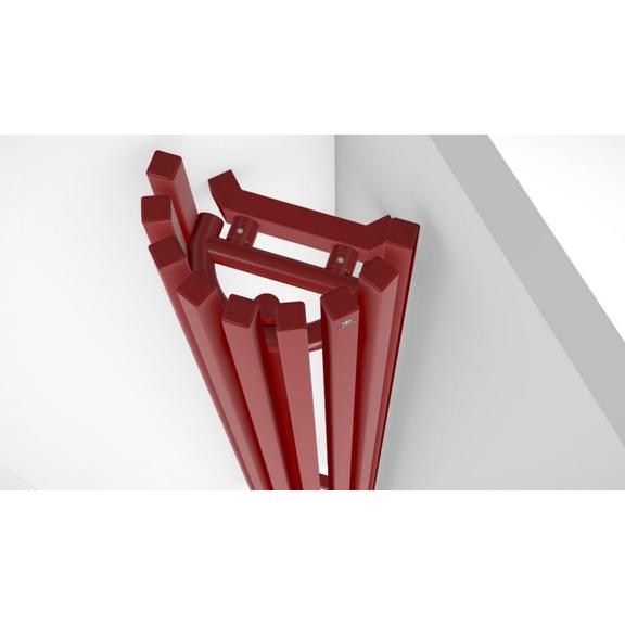 TERMA Triga ANC dizajnový radiátor RAL 3020 - detail zboku