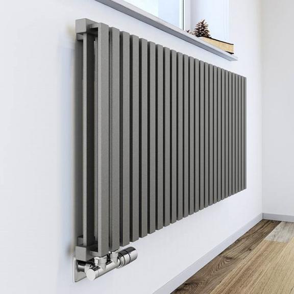TERMA Nemo dizajnový radiátor pod okno - tradičný a moderný - farba Metallic Stone