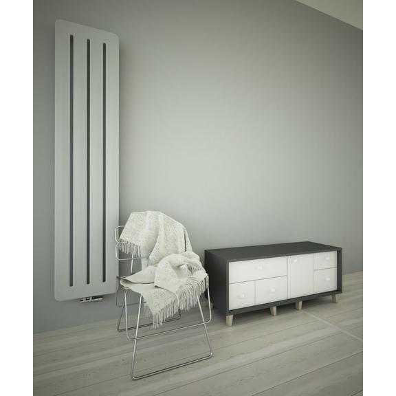 TERMA Aero V dizajnový radiátor farba Silver Matt - moderný interiér