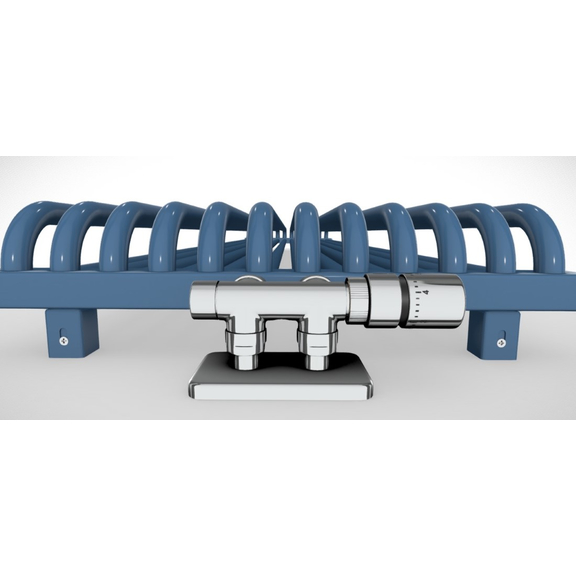 TERMA Delfin dizajnový radiátor pod okno 1800x580 RAL 5022 detail