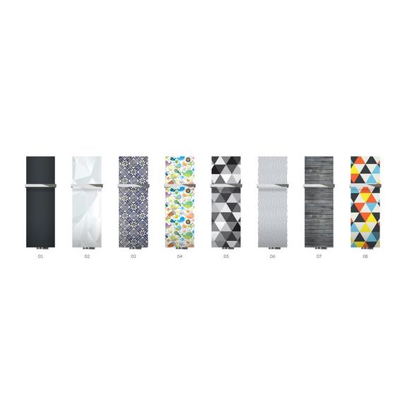 TERMA Case Slim dizajnový radiátor s potlačou - grafické predlohy vertikálne