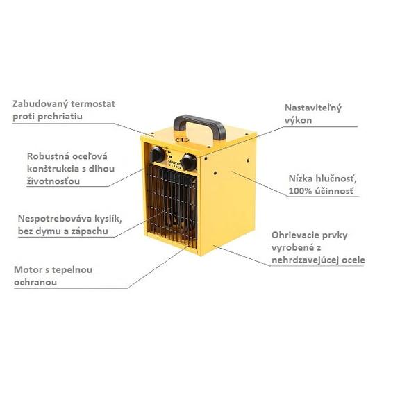Master B 1.8 ECA domáci elektrický ohrievač s ventilátorom popis
