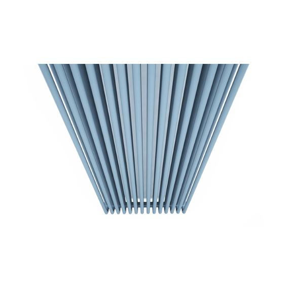 TERMA Delfin dizajnový radiátor pod okno RAL5014 vertikálny - detail