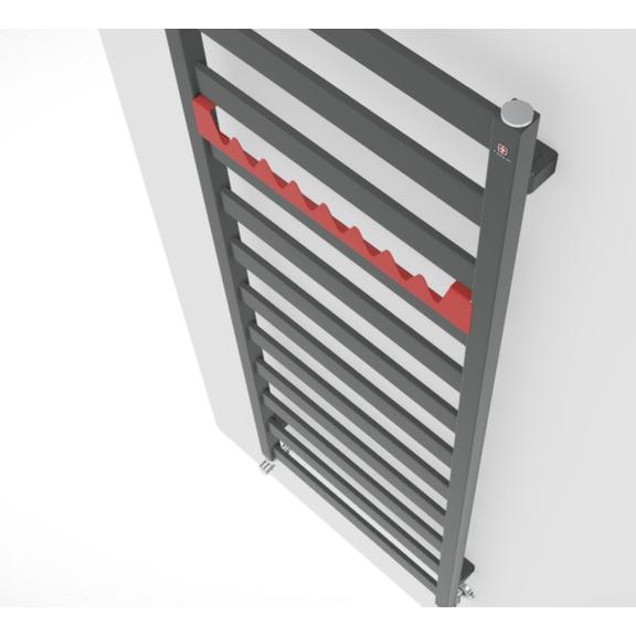 TERMA Vivo kúpeľňový radiátor 1390x500 farba Metallic Grey zboku