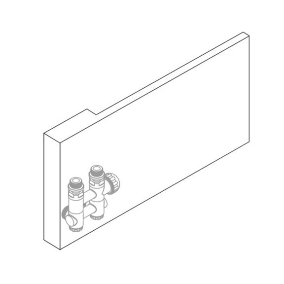 RSAP Dedalo dizajnový radiátor - skryté spoje v zadnej doske