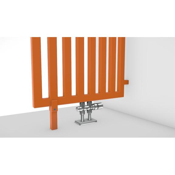 TERMA Angus DW dizajnový radiátor RAL2003 detail rozdeľovač miestnosti