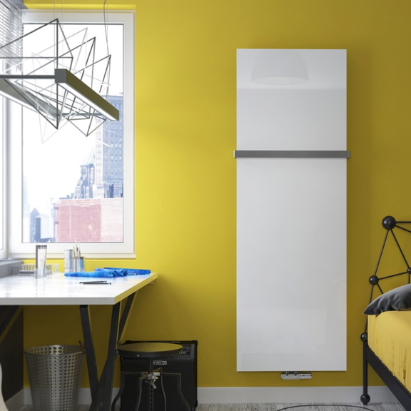 TERMA Case Slim dizajnový vertikálny radiátor - Sklo