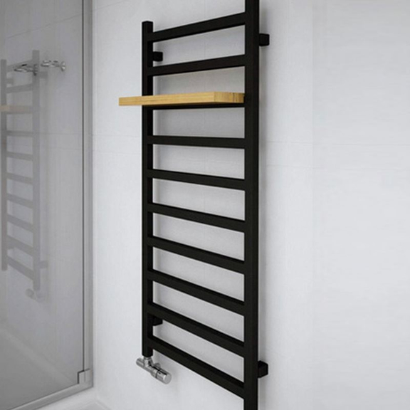 TERMA Simple dizajnový radiátor 1200x500  Heban - polička