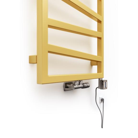 TERMA Zigzag elekrický kúpeľňový radiátor - farba Gold Gloss - detail