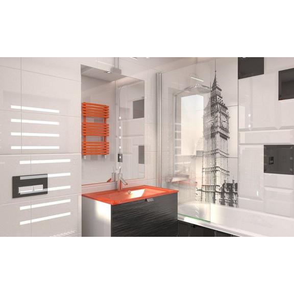 TERMA Kioto One dizajnový 870x480 radiátor do kúpeľne