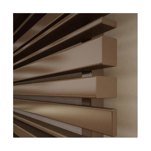 TERMA Sherwood H radiátor pod okno 440x1600 farba Dark Brown - detail