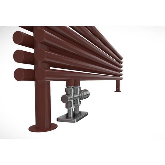 TERMA Tune HSD dizajnový radiátor pod okno RAL3009 detail