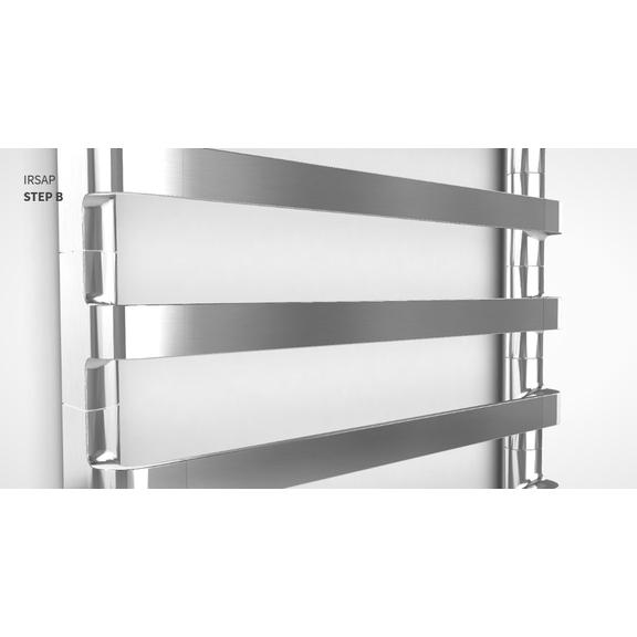 IRSAP Step B chrómový kúpeľňový radiátor detail3