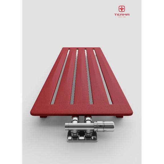 TERMA Aero V dizajnový radiátor 1500x410 farba Metallic Red verzia - voda