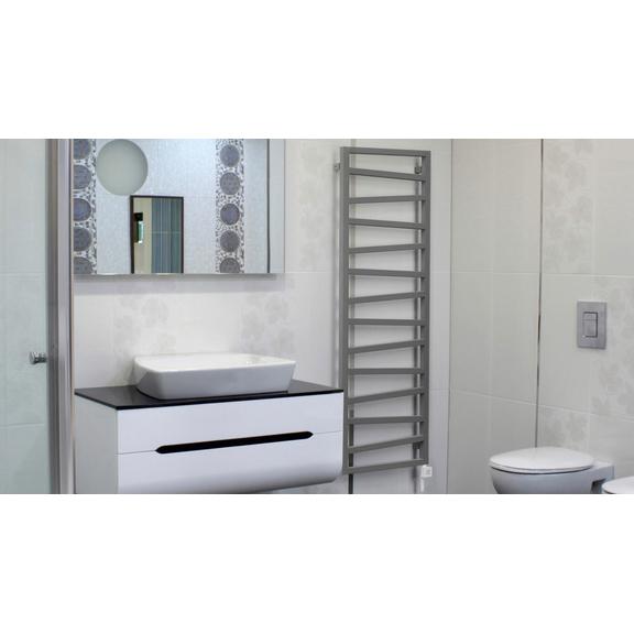 TERMA Zigzag elekrický kúpeľňový radiátor 1310x500 - interiérový dizajn