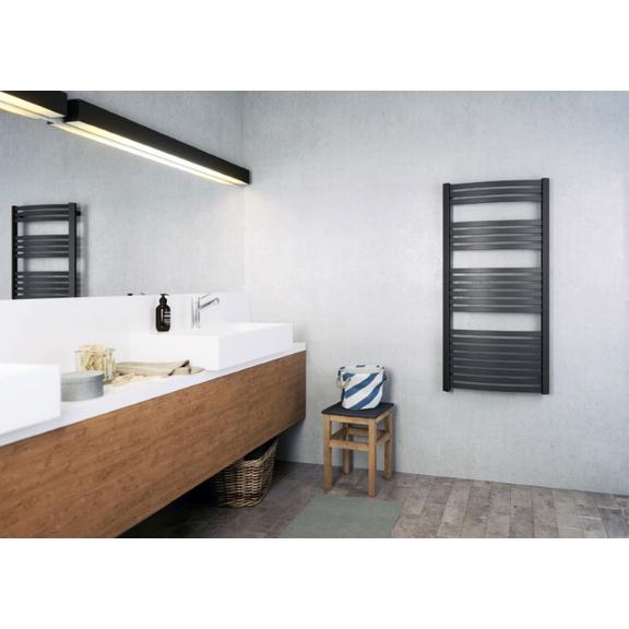 TERMA Dexter elektrický kúpeľňový radiátor 1260x600 Metallic Black detail
