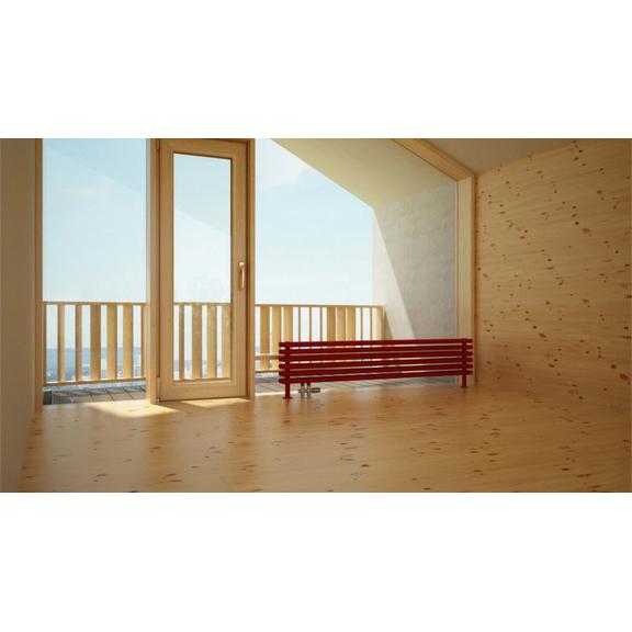 TERMA Tune HSD dizajnový radiátor pod okno 390x1400 RAL3020 moderný interiér