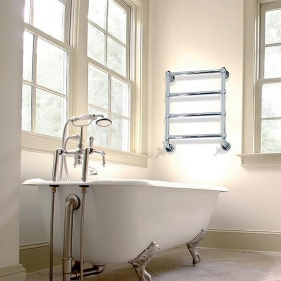 IRSAP Minuette chrómový kúpeľňový radiátor 596x540 chrómovaný povrch