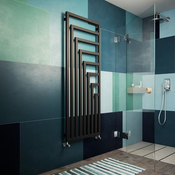 TERMA Angus V dizajnový radiátor 1780x680 farba Metallic Black - inšpirácie