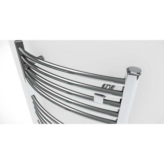 TERMA Domi kúpeľňový radiátor farba chróm - detail